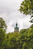 Klocka torn av antagandedomkyrkan i Lviv, Ukraina royaltyfria foton