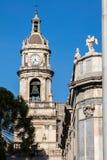 Klocka torn av den Catania domkyrkan Royaltyfri Fotografi