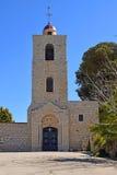 Klocka torn av den grekiska ortodoxa kloster, montering Tabor, Israel Royaltyfria Foton