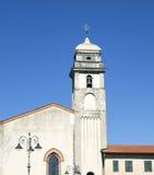 Klocka torn av den kristna kyrkan, i Pisa, Italien Royaltyfria Bilder