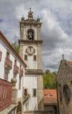 Klocka torn av den Santa Clara kloster i Amarante royaltyfria bilder