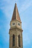 Klocka torn av domkyrkan av Arezzo Royaltyfri Foto