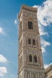 Klocka torn av domkyrkan av Brunelleschi Royaltyfria Foton