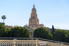 Klocka torn av domkyrkan för St Mary ` s i Murcia, Spanien Royaltyfri Bild