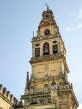 Klocka torn av domkyrkan (La Mezquita), Cordoba royaltyfria foton
