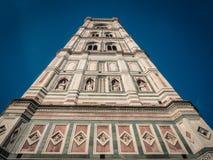 Klocka torn av domkyrkan av Santa Maria i Florence royaltyfri foto
