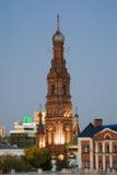 Klocka torn av Epiphanydomkyrkan royaltyfri fotografi