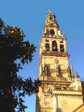 """Klocka torn av Mosqueâ€en """"domkyrka av CÃ-³rdobaen Fotografering för Bildbyråer"""