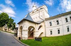 Klocka torn av St Sophia Cathedral i Novgorod kremlin, Ryssland Royaltyfri Foto
