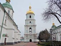Klocka torn av St Sophia Cathedral royaltyfri bild