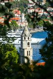 Klocka torn i Cavtat royaltyfri foto