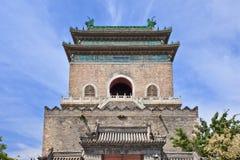 Klocka torn i den gamla staden av Peking, Kina arkivbild