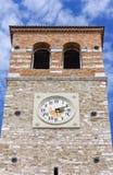 Klocka torn i Marano Lagunare Arkivfoton