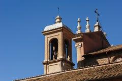 Klocka torn i Rome Arkivfoton