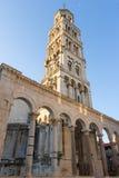 Klocka torn i splittring, Kroatien Royaltyfria Foton