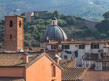 Klocka torn, kupol och fästning Fotografering för Bildbyråer