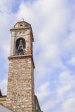 Klocka torn med en klocka Royaltyfri Bild