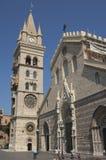 Klocka torn och Astronmical klocka i Messina Fotografering för Bildbyråer