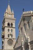 Klocka torn och Astronmical klocka i Messina Italien Arkivfoto