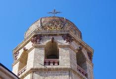 Klocka torn och kupol Arkivfoto