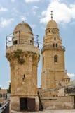 Klocka-torn och minaret Royaltyfri Fotografi