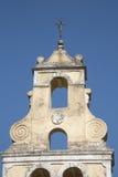 Klocka torn på Korfu Royaltyfri Foto
