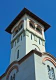 Klocka torn på ortodox kyrka i Novi Sad Royaltyfria Bilder