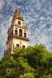 Klocka torn (Torre de Alminar) av den Mezquita domkyrkan (Gren Royaltyfri Bild