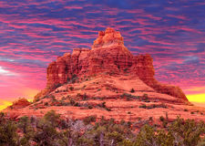 Klocka vaggar i Sedona, Arizona USA Royaltyfria Bilder