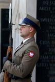Klocka vid gravvalvet av den okända soldaten royaltyfria bilder