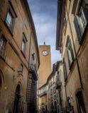 Klockaclocktoweren i Orvieto Umbria, Arkivfoton