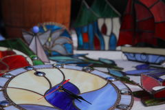 Klockaexponeringsglas i mosaikstil Arkivfoto