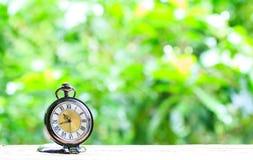 Klockafack som förläggas på trägolv Fotografering för Bildbyråer