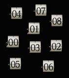 klockaflipnummer royaltyfri bild