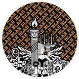 klockaframsida Royaltyfri Foto