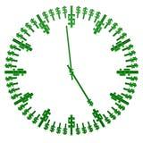 Klockaframsida med dollartecknet framförande 3d royaltyfri illustrationer