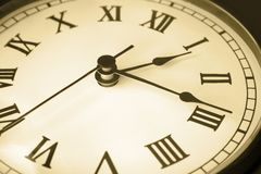 klockaframsidatid fotografering för bildbyråer