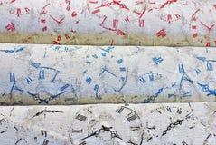 Klockaframsidor i färg Arkivbild