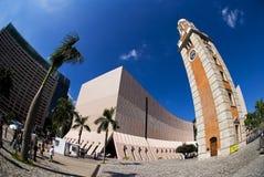 klockaHong Kong gammalt torn Arkivbilder