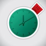 Klockaklistermärke med minimal etikett 10 Royaltyfri Bild