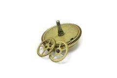 Klockakugghjul som göras av mässing Royaltyfria Bilder