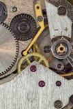 Klockamachanism Arkivfoto