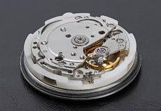 Klockamekanism med kugghjul Royaltyfri Foto