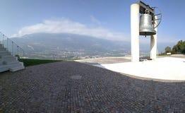 Klockan av det stupat, Rovereto, Italien royaltyfria bilder