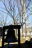 Klockan av hopp; nära World Trade Centerplatsen och en Worl Arkivfoton
