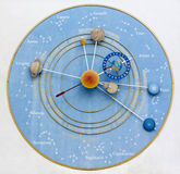 Klockan av planeterna Royaltyfri Fotografi