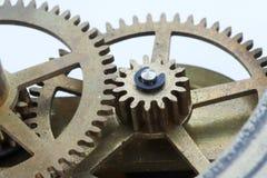 klockan gears makro Arkivbild
