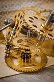 klockan gears mekaniskt royaltyfri foto