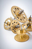 klockan gears mekaniskt arkivbild
