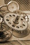 klockan gears mekaniskt royaltyfri fotografi
